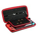ametoys Nintendo Switch用ケース 全面保護の任天堂専用 収納カバー 10個ゲームカード ストラップ付き