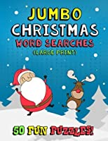 Jumbo Christmas Word Searches (Large Print): 50 Christmas Themed Word Search Puzzle Coloring Book for Kids Adults and Seniors - Winter Holiday Relieve Stress and Boost Your Brain Power [並行輸入品]