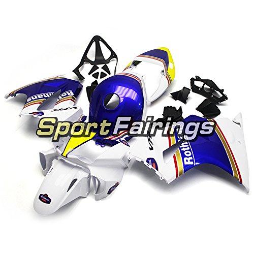 Sportfairings オートバイの外装部品の適応モデル 完全なフェアリングキットホンダ Honda VFR800 RC46 2002 - 2009 2010 2011 2012 フェアホワイトブルーイエローフルカバー
