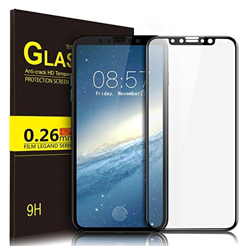KuGi iphoneX ガラスフィルム iphone X フィルム 3D Touch対応 飛散防止処理 専用 強化ガラスフィルム 耐衝撃 超耐久 99% 高透過率 Apple iphone X iPhone x Edition 画面液晶 保護ガラスフィルム 貼り易い 液晶保護シート ブラック
