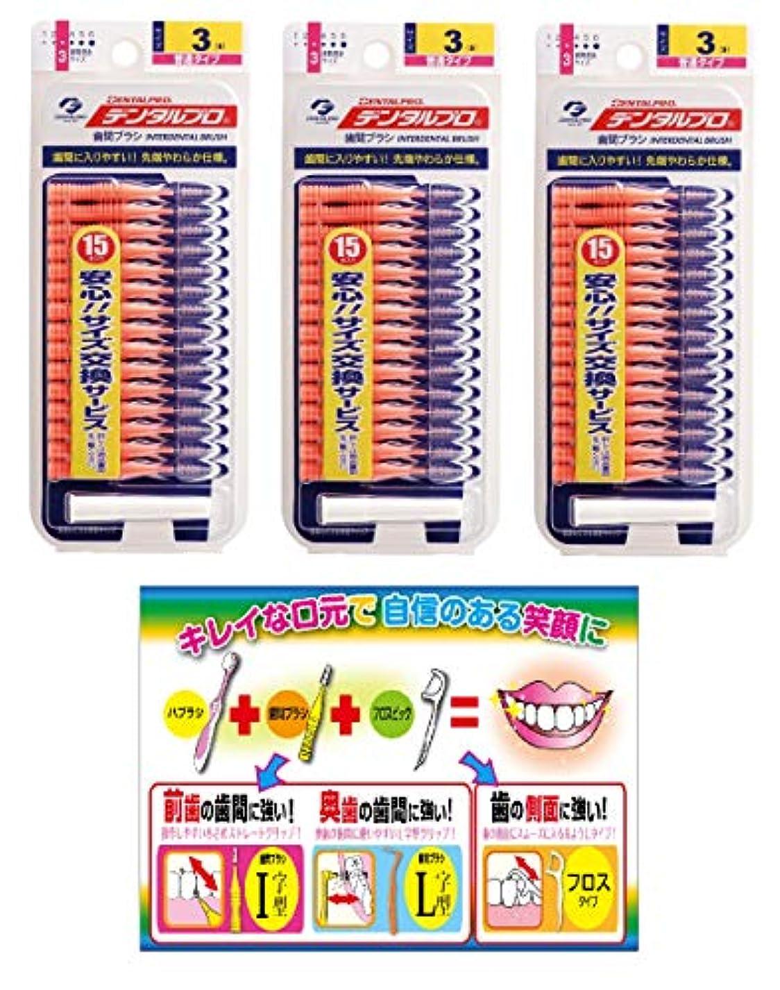 台風消防士デザイナー【Amazon.co.jp限定】DP歯間ブラシ15P サイズ3 3P+リーフレット