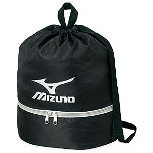 MIZUNO(ミズノ) プールバック 巾着タイプ 11L 85DK30309 L27cm×W15cm×H38cm ブラック