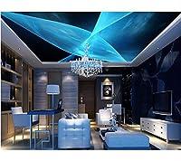 Weaeo カスタム3D天井の壁紙3Dライン抽象化の家の改善3D天井のリビングルームの写真の壁紙-280X200Cm