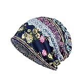 レディース ニット InitialG【イニシャルジー】ニット帽 レディース ニットキャップ ネックウォーマー 2WAYS ビーニー 帽子 ワッチキャップ サマーニット帽 花柄 008-gcs-g1332(ネイビー )