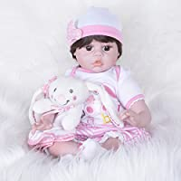 PKJOkmjko シミュレーション人形全シリカゲル幼児教育迫真の女の子の人形22インチ55センチ迫真プリンセス児童玩具子どもの誕生日プレゼント