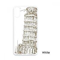 イタリアピサピサの斜塔 iphoneケースホワイトx phonecaseアップルカバーケースの贈り物のために