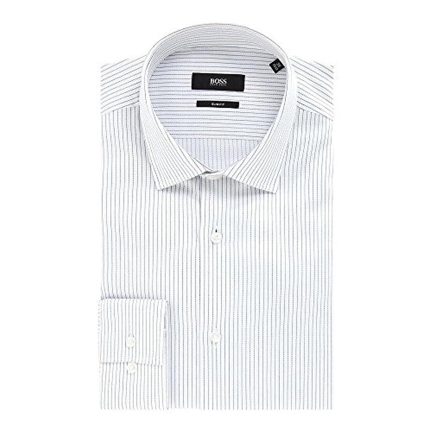 楽しませる財団啓発する(ヒューゴ ボス) Hugo Boss メンズ トップス シャツ Jenno Slim Fine Pinstripe Shirt [並行輸入品]