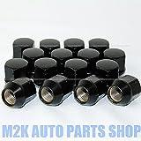 国産車 全般対応 軽自動車 ブラックナット ショートナット P1.25 19HEX 16個 M12 送料無料 60度テーパー 袋タイプ
