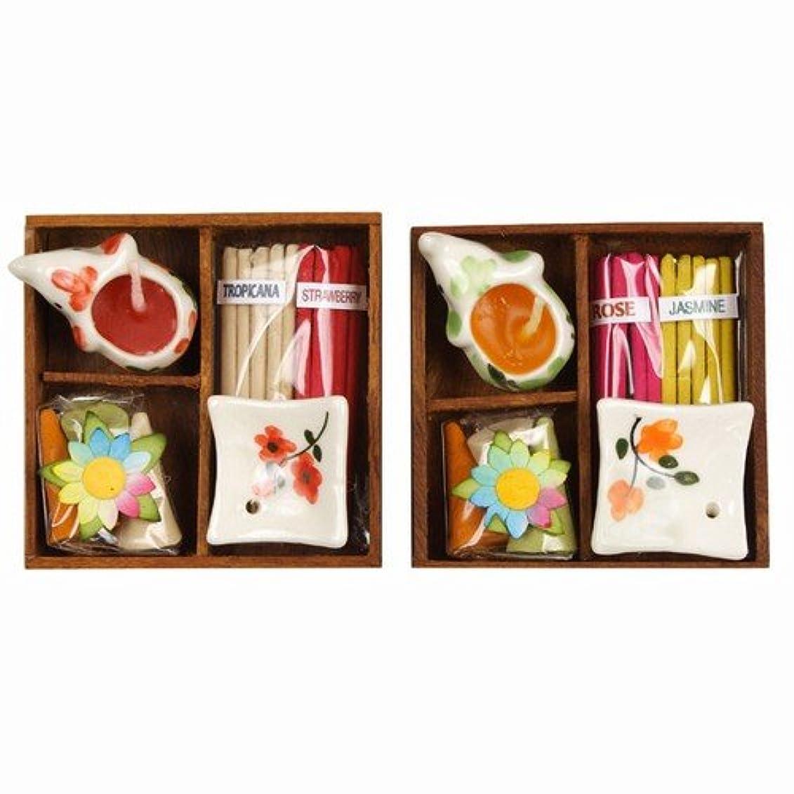 コットンバケット鉄2セットお香& Candle Assortedボックス
