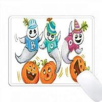 かわいい踊るハロウィーンの幽霊 PC Mouse Pad パソコン マウスパッド