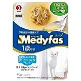 箱売り ペットライン メディファス スープパウチ 1歳から成猫用 しらす・かつお節入り 40g 1箱48袋入