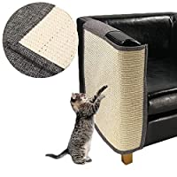 P-SHOW 猫爪どき 爪研ぎマット 保護ソファ ソファーカバー 家具傷防止 運動不足改善 ストレス解消猫おもちゃ 猫爪磨き (幅をのばす-左)