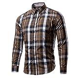 Tzou 16色 メンズ ボタンダウン チェック柄 シャツ ワイシャツ 半袖 シャツ チェックシャツ カジュアル 格子柄 大きいサイズ ブロード100% おしゃれ インナーシャツ トップス 形態安定 スリム 紳士服 ビジネス Tシャツ Mコーヒー