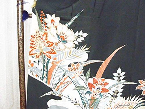 リサイクル留袖/正絹黒留袖比翼付(結婚式用着物 フォーマル【中古】)【ランクA】