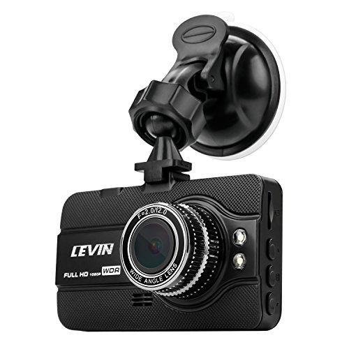 LEVIN ドライブレコーダー 1080PフルHD 170度広角 1200万画素 WDR 3.0インチ 常時録画 動き検知 Gセンサー搭載 駐車監視 ループ録画 日本語取扱説明書付き