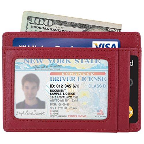 Kinzd® 薄型 小さい財布 カードポケット RFIDブロッキング カードと紙幣収納 (パープル)