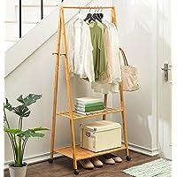 ハンガー- コートラックBamboon Hanging Clothes棚棚仕上げLiving Room Storageシンプルモダン -Home Decor (色 : Type C, サイズ さいず : 60 cm 60 cm)