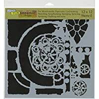 Crafters Workshop TCW629 Template, 12 x 12, Rustic Portal, White by CRAFTERS WORKSHOP