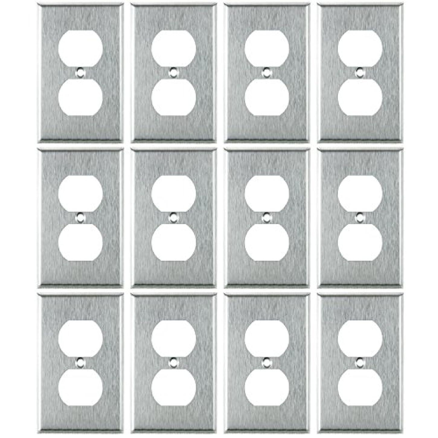 石化する紛争第四Sunlite、Gang二重レセプタクルプレート、スチール 1 Pack E211/S/12PK 12