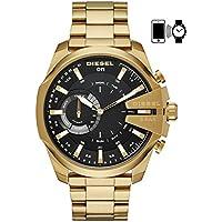 DIESEL Men's DZT1013 Year-Round Smart Digital Gold Band Watch