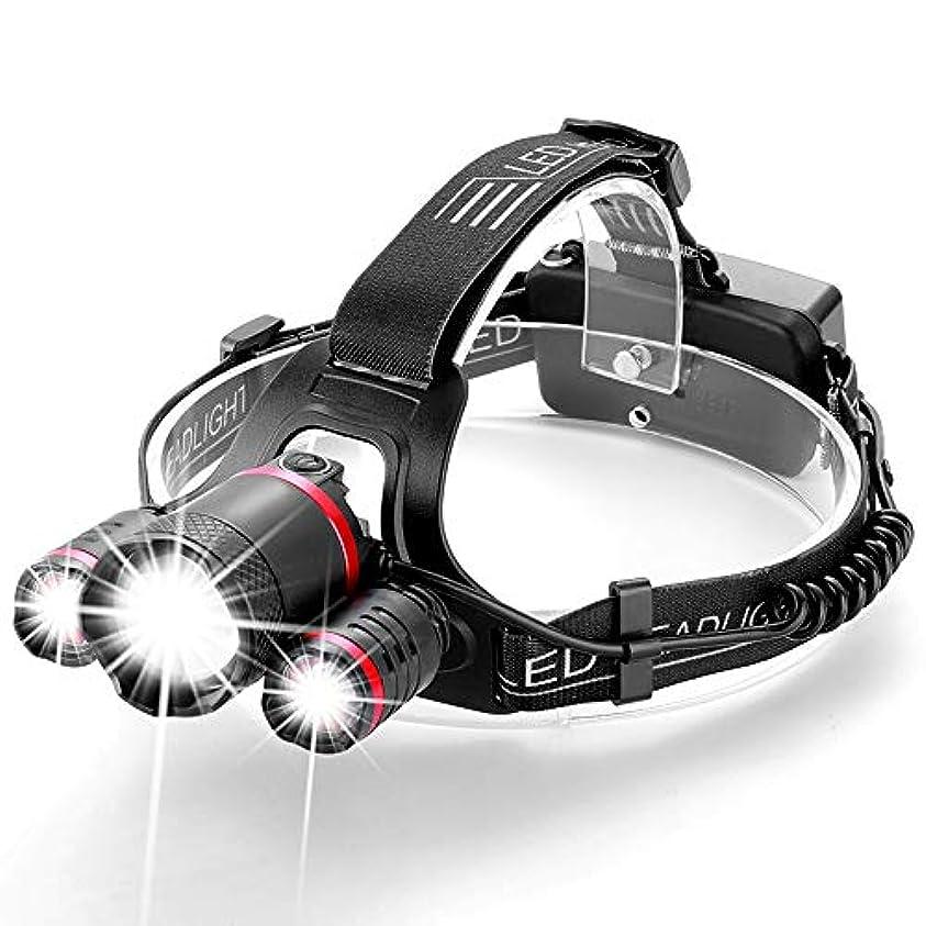に向かって博覧会修理工LEDヘッドライト センサー機能 ネックライト ヘッドランプ アウトドアライト4500ルーメン 防水防災 夜釣り 工事 作業適用 電池付属なし