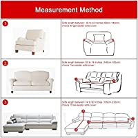 (2 Seater Love Seat (55-190cm ), Coffee) - Stretch Loveseat Cover - Sofa Covers Slipcover Sofa - 1-Piece 1 2 3 4 Seater Furniture Protector Polyester Spandex Fabric Slipcover With a Pillow Cover for Children and Pets Coffee