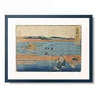 葛飾北斎 Katsushika Hokusai 「東海道五十三次 島田」 額装アート作品