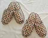 スリッパ 2足セット 小花柄 洗える 日本製 FABRIC'Sファブリックス 可愛い おしゃれ 室内 ルームシューズ インテリア エリーゼピンク