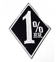 1% er1パーセンターバイカーアウトローワッペンデッドストック黒