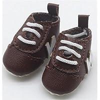 HuaQingPiJu-JP 人形アクセサリーNアルファベットの靴(ブラウン)