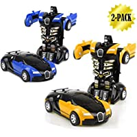 JSMK Transformers toys for kids RC Vehicles Toy Cars 1-step変形車、JM慣性車を前後without running Electric電源 BXCHD012BY