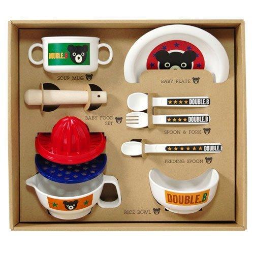 mikihouse ミキハウス 66-7001-369 【ダブルB】【箱付】食洗機OK!!ベビー食器セット
