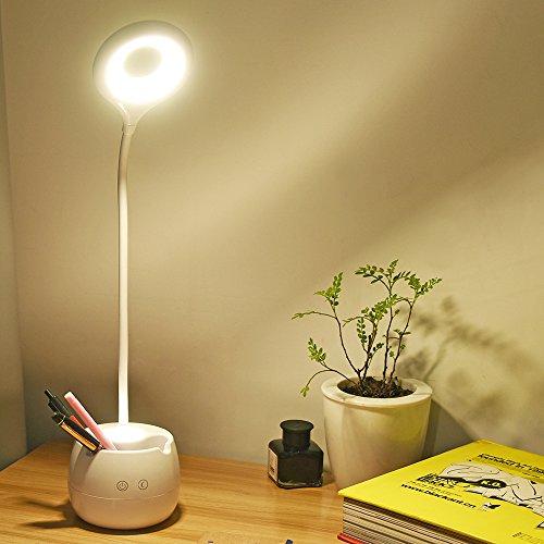 LS スタンドライト デスクライト LEDライト 筆立て付 スマホスタンド 卓上ライト 目に優しい テーブルスタンド USB充電 タッチセンサー 読書/寝室/仕事/等に最適
