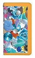 スマホケース 手帳型 ベルトなし lgv33 ケース 5135-C. バービーオレンジ lgv33 ケース 手帳 [Qua phone PX LGV33] キュアフォン ピーエックス