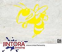 JINTORA ステッカー/カーステッカー - Bumble Bee - バンブルビー - 88x88mm - JDM/Die cut - 車/ウィンドウ/ラップトップ/ウィンドウ- 黄色
