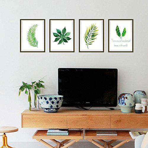 GOUZI Stylish leaf photo frame sticker sofa bed posters wall mount Removable wall sticker For Bedroom Living Room Background Wall Bathroom Study Barber Shop