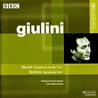 モーツァルト:交響曲第36番「リンツ」/ブラームス:交響曲第1番(フィルハーモニア管/ジュリーニ)(1962, 1982)