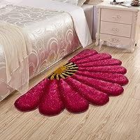 @プチコット 新しい韓国のシルク厚い3Dセクターのカーペットシルク+明るいワイヤー+不織布カーペットのエリアの寝室用リビングルーム (色 : #2, サイズ さいず : 80*150CM)