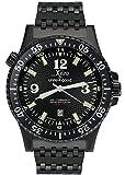 Xezo for Unite4:good エア・コマンド メンズ ブラック・パイロット高級限定品スイス製サファイアクリスタル使用自動巻き時計。耐水性:20ATM。2つのタイムゾーン可能。隆起ベゼル。[並行輸入品]