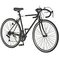 【フロントライト・ワイヤー錠2点SET】Grandir(グランディール) 700Cロードバイク シマノ21段変速[サムシフター] 2WAYブレーキシステム搭載 フレームサイズ520 Grandir Sensitive ブラック[520]