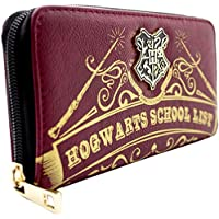 Harry Potter Hogwarts School List Red Coin & Card Clutch Purse