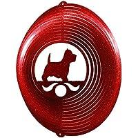 Westie Terrier Circle Swirly Metal Wind Spinner 2282