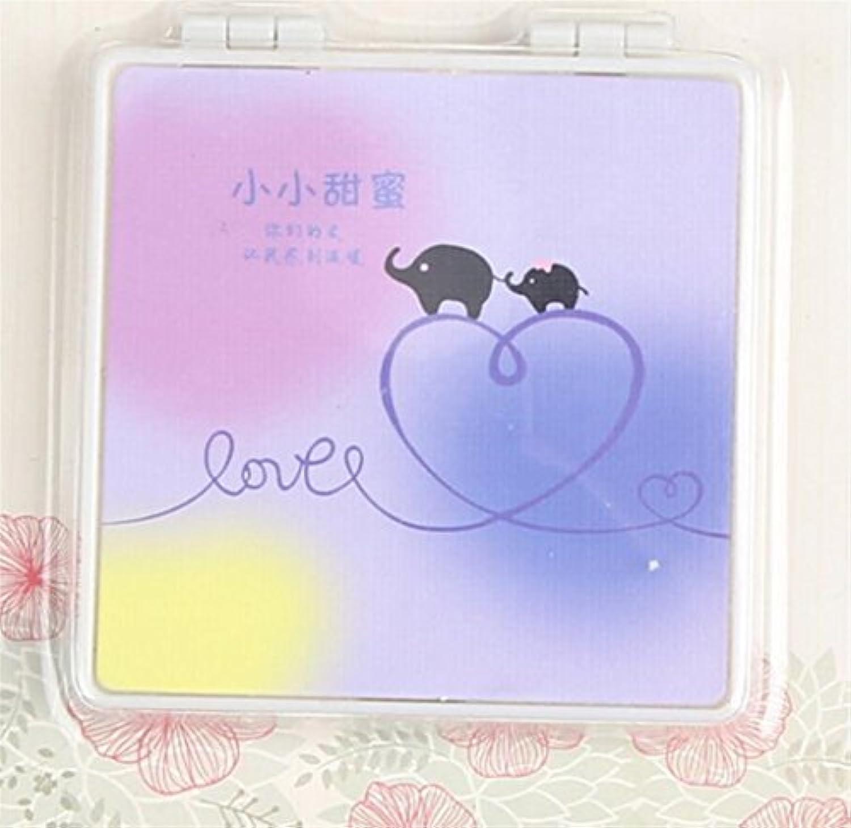 HuaQingPiJu-JP ミニスクエア小型ガラスミラーサークル工芸装飾化粧品アクセサリー
