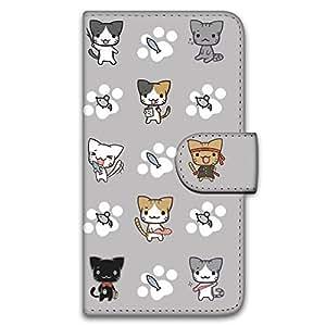 多キャラ箱 Nexus5 LG-D820 ケース 手帳型 プリント手帳 ぬこいろいろ。E (pt-025) カード収納 スタンド機能 WN-LC568378-ML