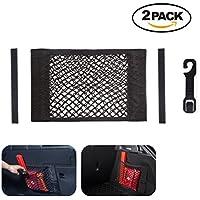 どのように車のバックトランクネットオーガナイザーシートネットメッシュストレージバッグボトルの電話貨物(パック2)