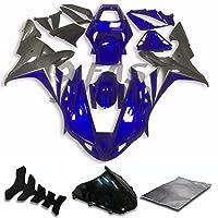 9FastMoto yamaha ヤマハ 2002 2003 YZF-1000 R1 02 03 YZF 1000 R1 用フェアリング オートバイフェアリングキット ABS 射出成形セット スポーツバイク カウル パネル (ブルー & グレー) Y0587