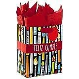 Hallmark VIDA Mサイズ スペイン製ギフトバッグ ティッシュペーパー付き 誕生日用 (フェリス・パンプル)