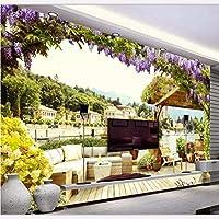 Wuyyii カスタム壁紙壁紙用ホームデコレーションリビングルームドリームベッドルームエキゾチック風景の壁紙 - 120×100センチ