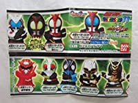 仮面ライダーソフビコレクション11絶版ガシャポン全8種セット品