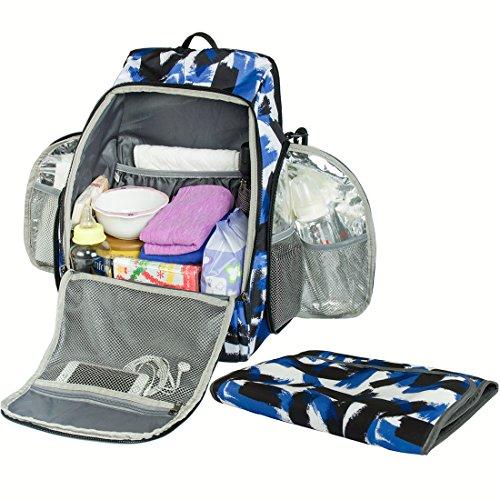 (エコスシ)Ecosusiマザーズバッグリュックキャンバスバッグ軽量大容量多機能ブルー22L